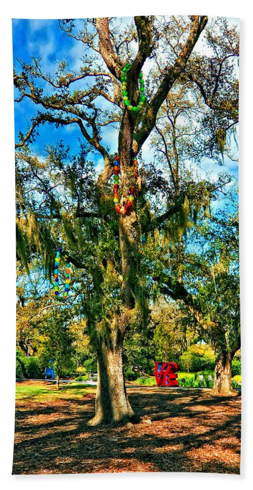 New Orleans Hand Towel featuring the photograph New Orleans Sculpture Park by Steve Harrington
