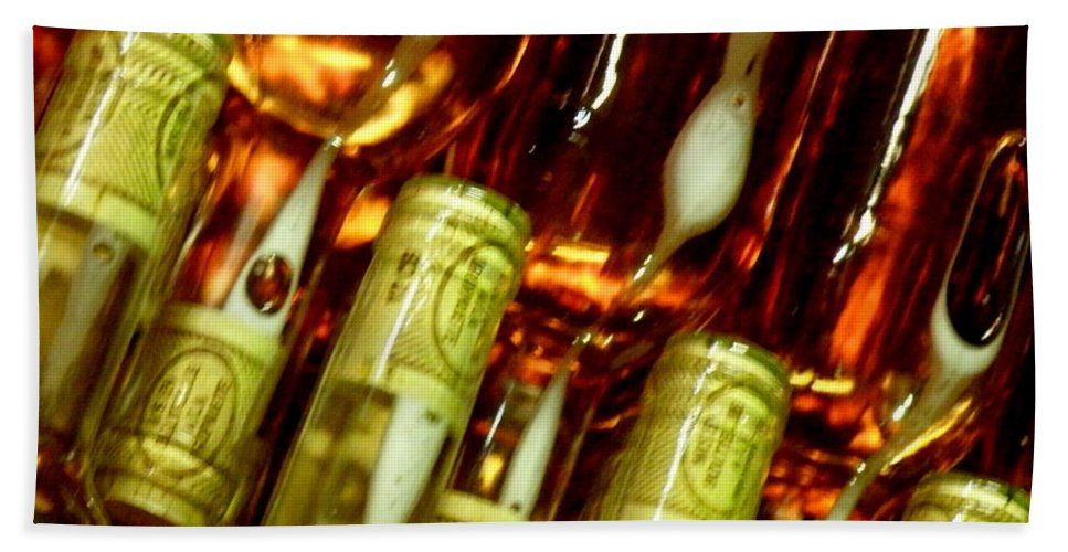 Bottles Hand Towel featuring the photograph New Wine by Lainie Wrightson