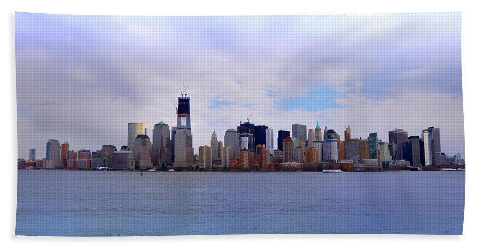New York City Bath Sheet featuring the photograph New York City by Bill Cannon