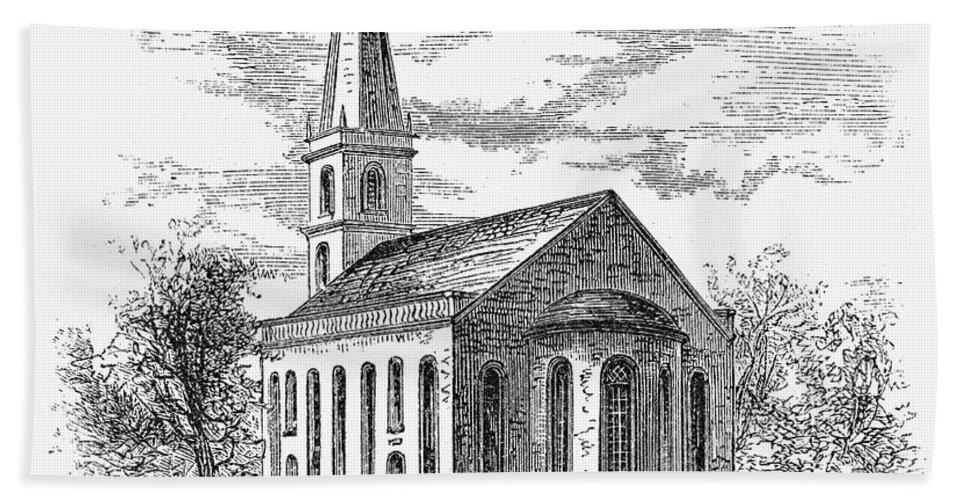 1775 Bath Towel featuring the photograph New York: Trinity Church by Granger