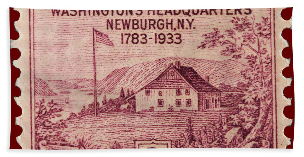 Newburgh Bath Sheet featuring the photograph Newburgh Ny Postage Stamp by James Hill