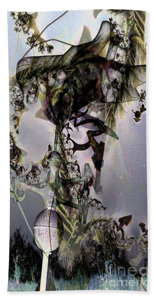 Layers Hand Towel featuring the digital art Night Of The Banshee by Ron Bissett