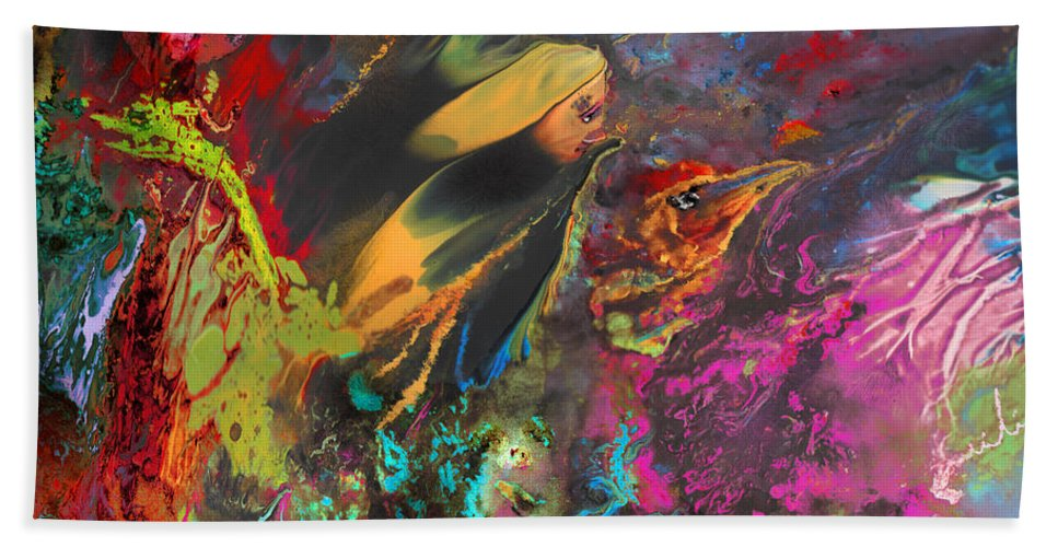 Dreams Hand Towel featuring the painting Nightmare by Miki De Goodaboom