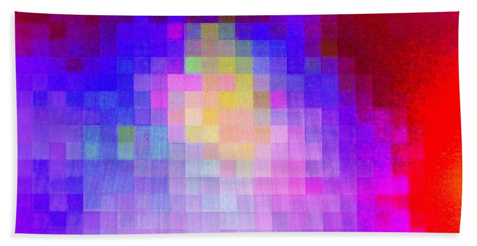 Abstract Hand Towel featuring the digital art No Must In Art by Ian MacDonald