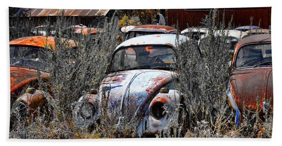 Bugs Hand Towel featuring the photograph Not Herbie The Love Bug by Douglas Barnard