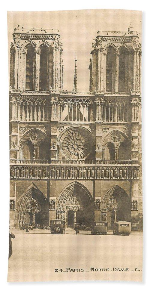 Paris Bath Sheet featuring the digital art Notre Dame by Georgia Fowler