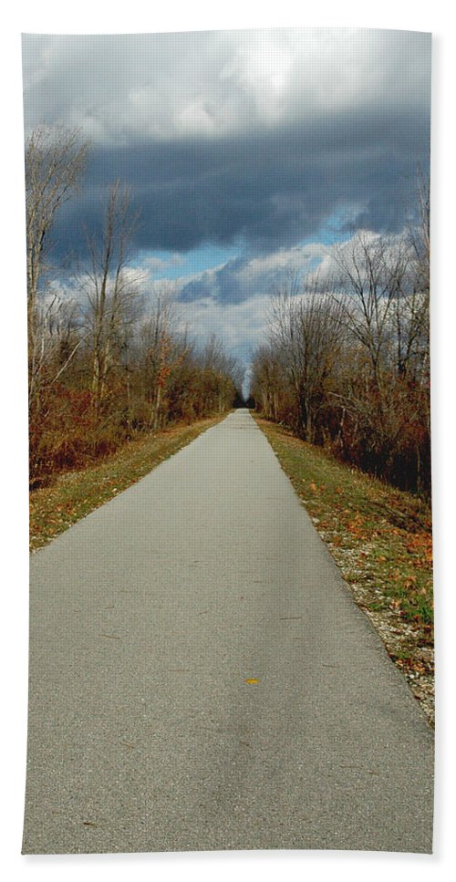 Usa Bath Sheet featuring the photograph November On Macomb Orchard Trail by LeeAnn McLaneGoetz McLaneGoetzStudioLLCcom