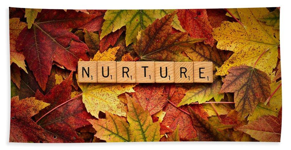 Daniel J. Kmiecik Hand Towel featuring the photograph Nurture-autumn by Onyonet Photo Studios
