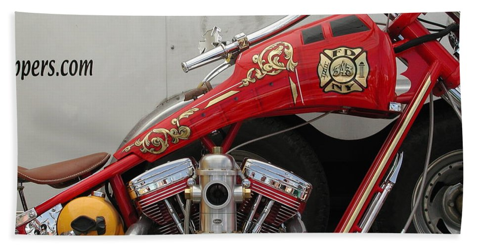 Sturgis Bath Sheet featuring the photograph Occ Fdny Motorcycle by Anna Ruzsan