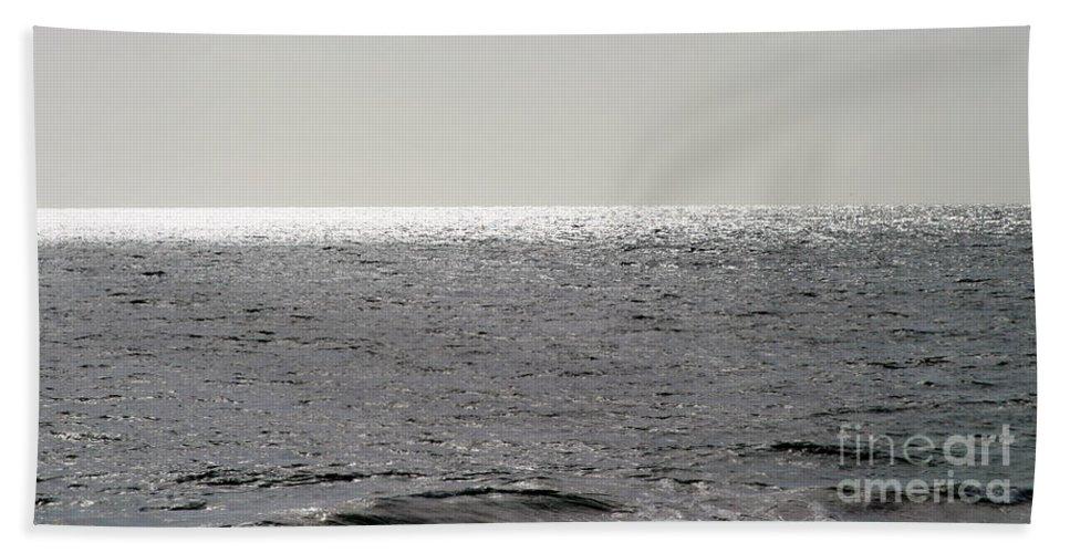 Background Bath Sheet featuring the photograph Ocean by Henrik Lehnerer