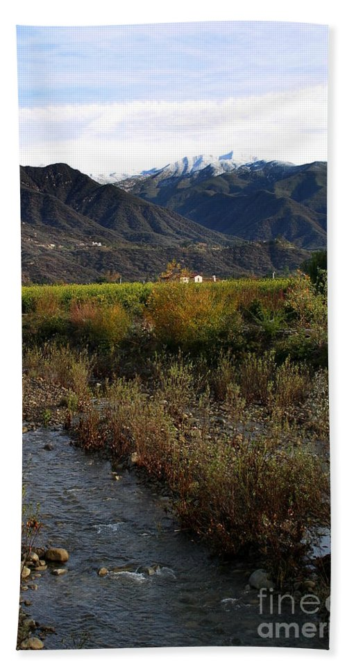 Ojai Bath Sheet featuring the photograph Ojai Valley by Henrik Lehnerer