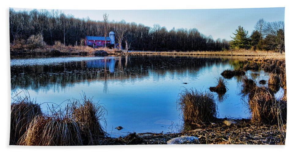 Walpack Bath Sheet featuring the photograph Old Barn Walpack Nj by Rick Berk