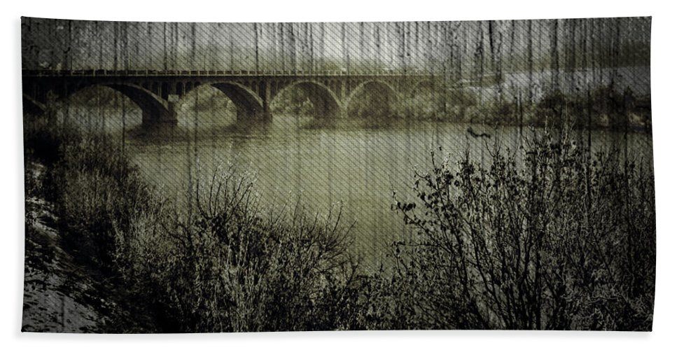 Art Photographs Photographs Framed Prints Photographs Framed Prints Framed Prints Framed Prints Photographs Framed Prints Framed Prints Framed Prints Photographs Photographs Photographs Hand Towel featuring the photograph Old Bridge by The Artist Project
