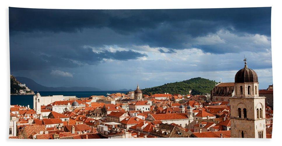 Dubrovnik Bath Sheet featuring the photograph Old City Of Dubrovnik by Artur Bogacki