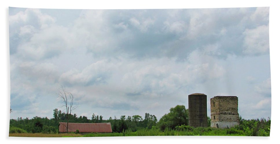Landscape Bath Sheet featuring the photograph Old Farm Ruins 02 by Ms Judi