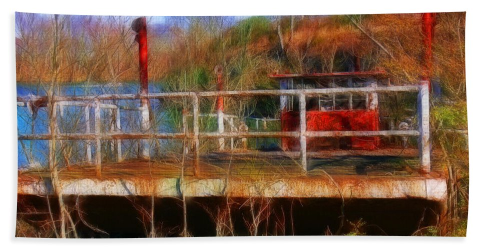 Tn Hand Towel featuring the photograph Old Ferry On The Cumberland by Ericamaxine Price