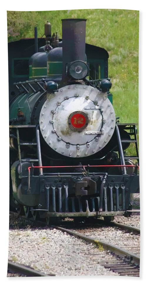 Train Bath Sheet featuring the photograph Old Number 12 by Terry Fiala