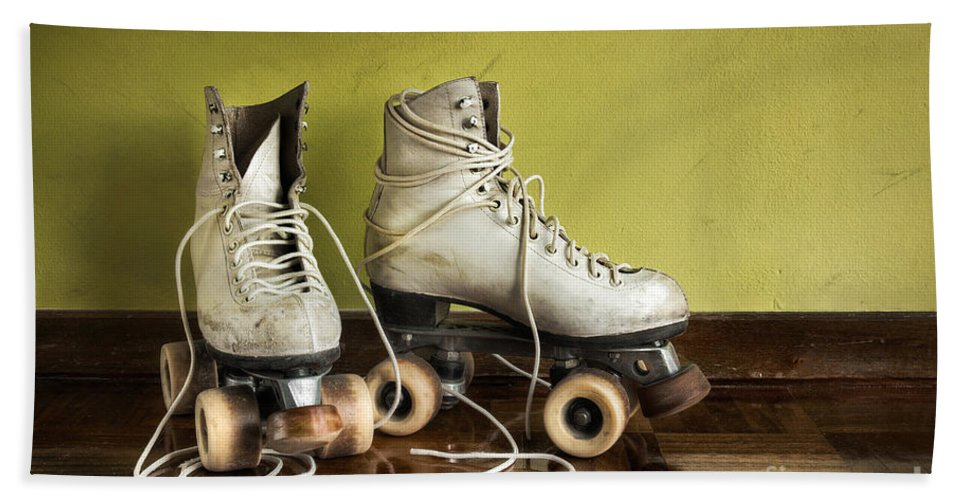 Active Bath Sheet featuring the photograph Old Roller-skates by Carlos Caetano