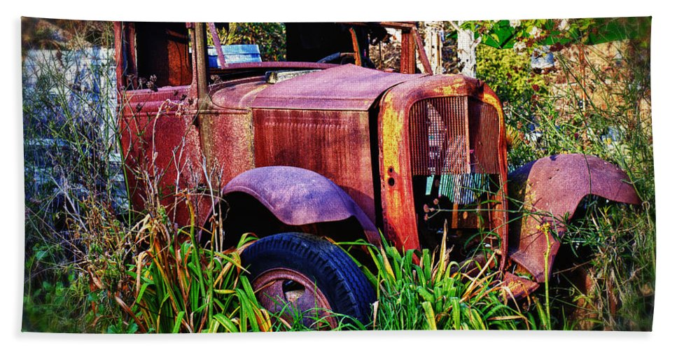 Truck Hand Towel featuring the photograph Old Rusting Truck by Garry Gay