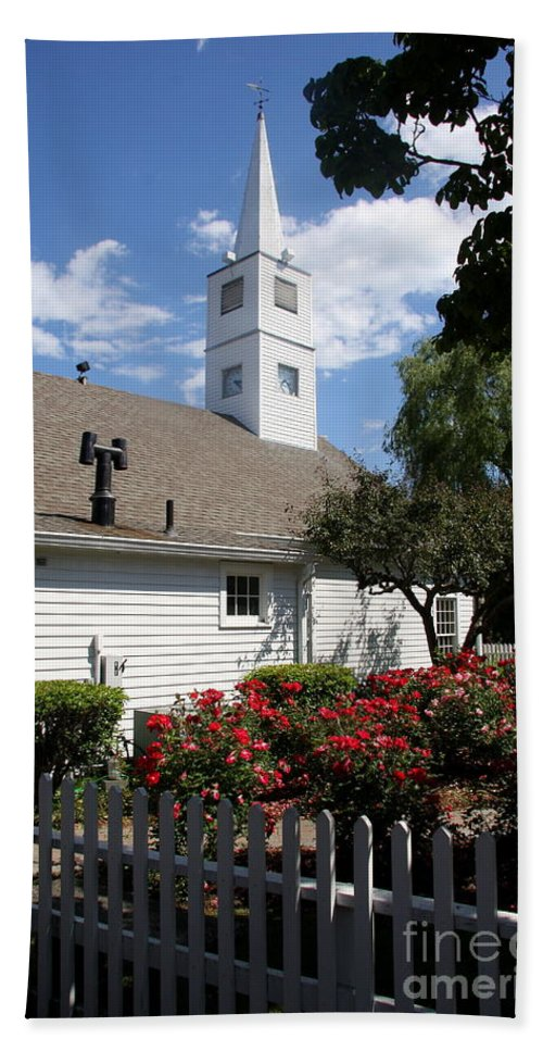 Old Town Hand Towel featuring the photograph Old Town Mystic Church by Christiane Schulze Art And Photography