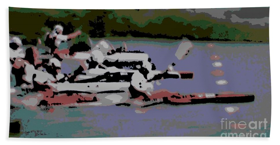 Lightweight Bath Sheet featuring the photograph Olympic Lightweight Double Sculls by George Pedro