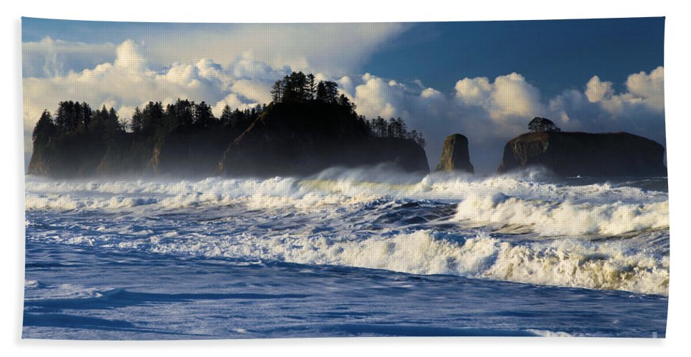 Rialto Beach Bath Sheet featuring the photograph Olympic Ocean Swirls by Adam Jewell
