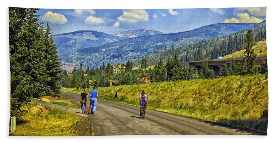 Vail Hand Towel featuring the photograph On A Country Road by Madeline Ellis
