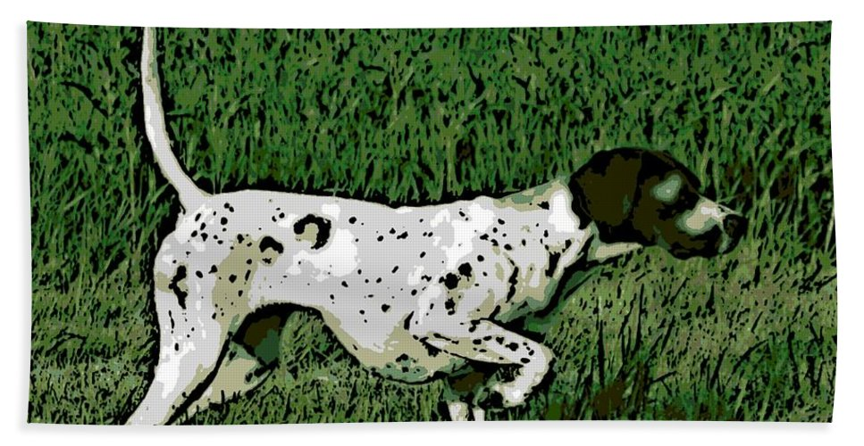 Bird Dog Bath Sheet featuring the photograph On Point by George Pedro
