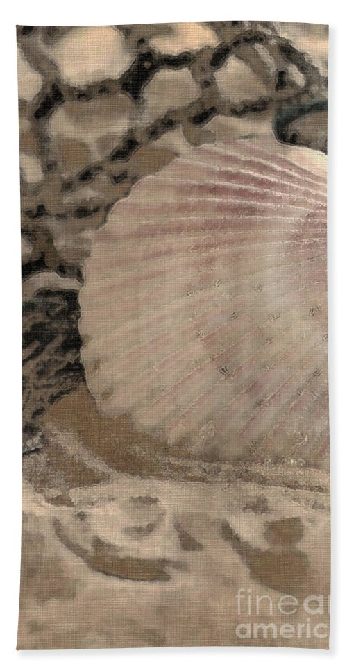 Sea Life Bath Sheet featuring the photograph On The Beach by Betty LaRue