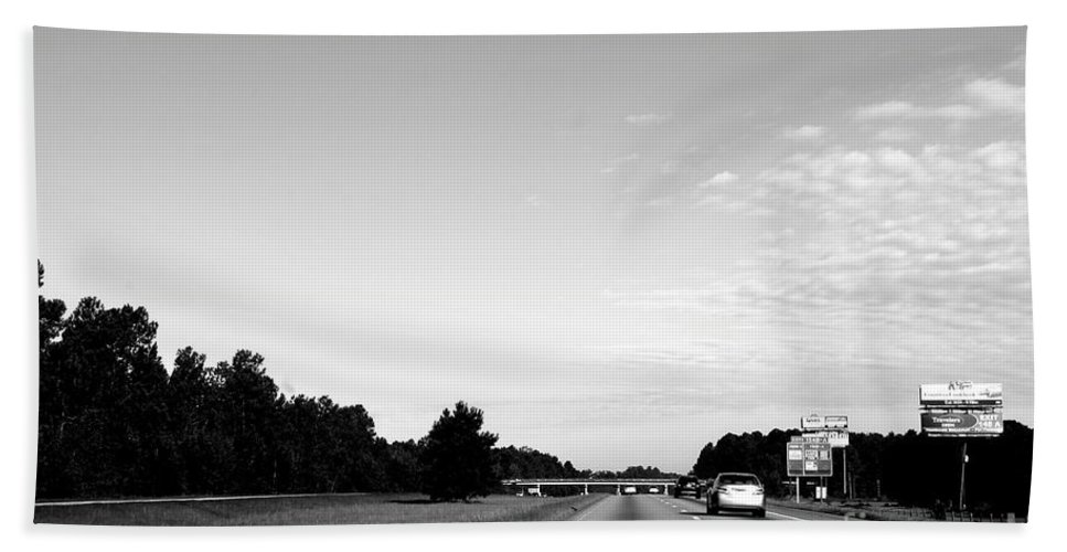 Transportation Hand Towel featuring the photograph On The Road by Samantha Glaze