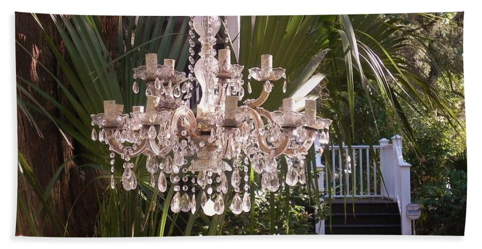 Chandelier Hand Towel featuring the photograph Only In Beaufort by Patricia Greer