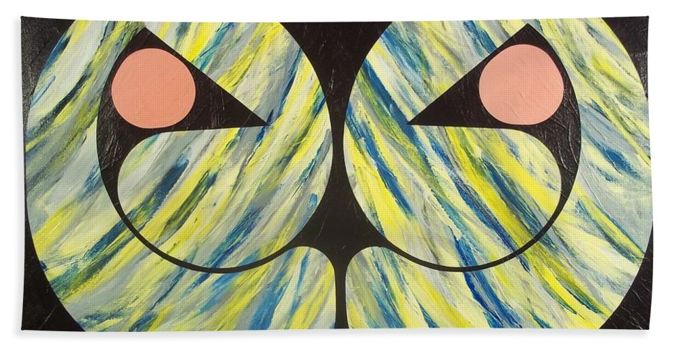Abstract Hand Towel featuring the painting Only Seekers Find by James Hamilton