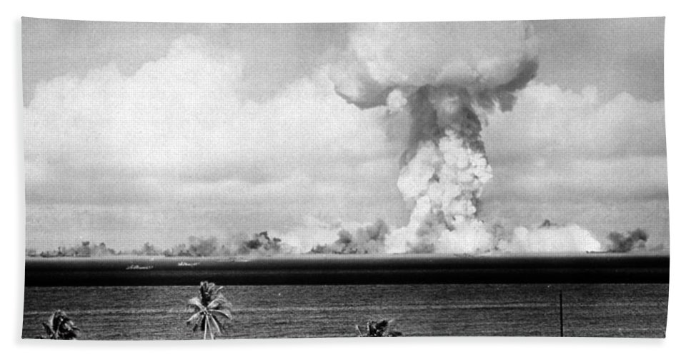 Science Hand Towel featuring the photograph Operation Crossroads, Able Detonation by Science Source
