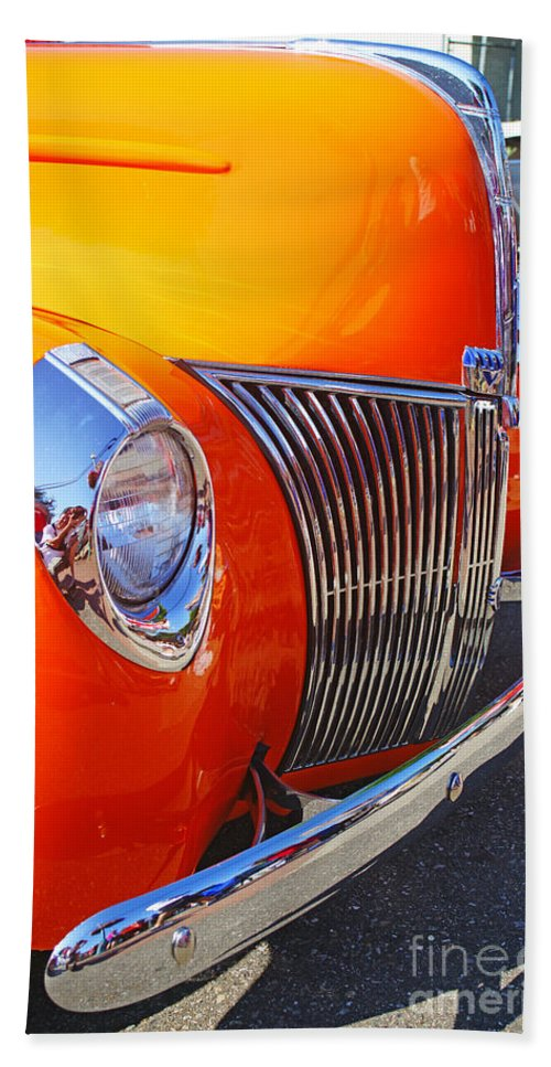 Custom Cars Bath Sheet featuring the photograph Orange Beauty by Randy Harris