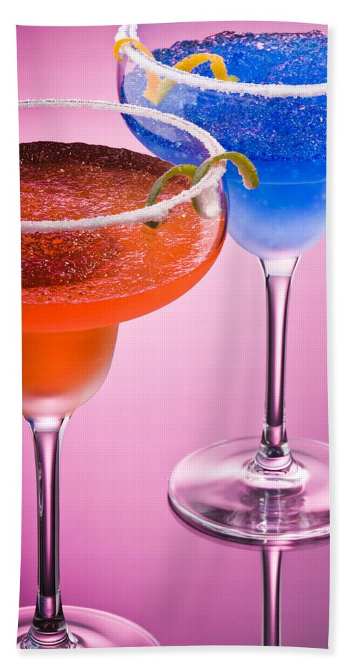 Isolated Bath Sheet featuring the photograph Orange Cobalt Margarita by U Schade