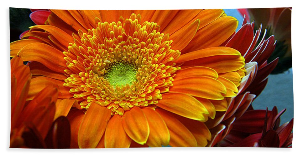 Clay Hand Towel featuring the photograph Orange Floral by Clayton Bruster