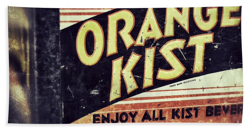 Grunge Hand Towel featuring the photograph Orange Kist by Traci Cottingham