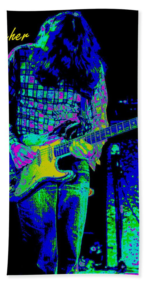 Rock Musicians Hand Towel featuring the photograph Orange Ya Glad For The Blues by Ben Upham