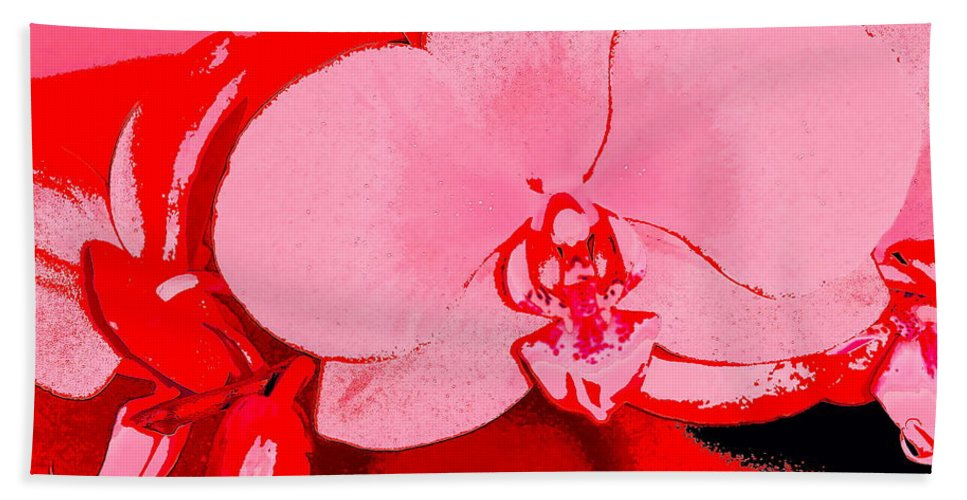 Floral Hand Towel featuring the photograph Orchid 3 by Pamela Cooper