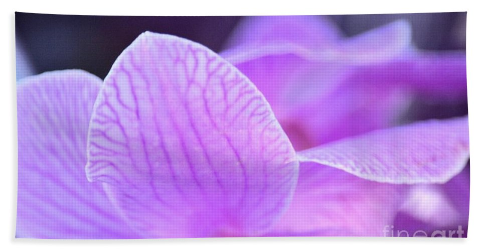 Orchid Pink Hand Towel featuring the photograph Orchid Pink by Maria Urso