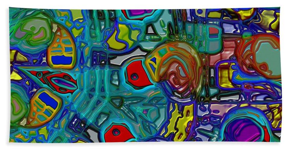 Chaos Bath Sheet featuring the digital art Organized Chaos by Alec Drake