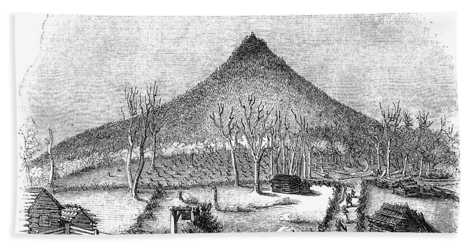 1856 Bath Sheet featuring the photograph Otter Mountain, Virginia by Granger