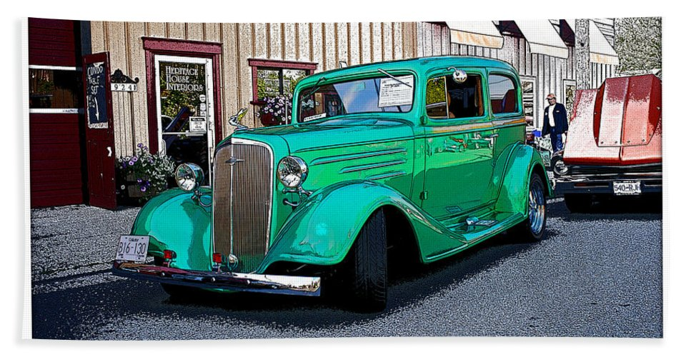 Cars Bath Sheet featuring the photograph Out In The Country by Randy Harris