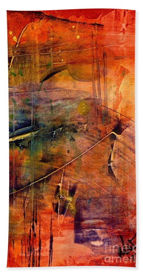 Acrylic Bath Sheet featuring the painting Outer Limits by Angela L Walker
