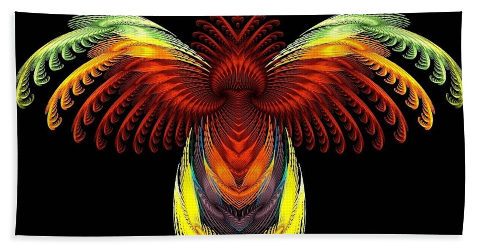 Bird Hand Towel featuring the digital art Outstreched Wings by Klara Acel