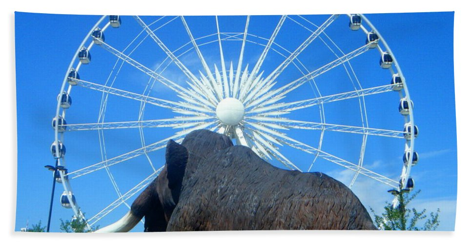 Skywheel Hand Towel featuring the photograph Over Mammoth Proportion by April Patterson