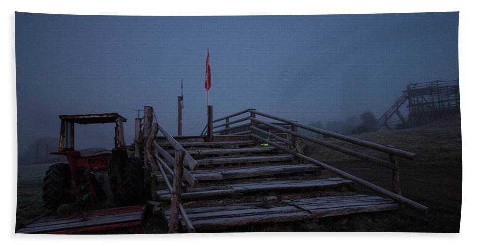 Sunrise Hand Towel featuring the photograph Over The Bridge by Dawn OConnor