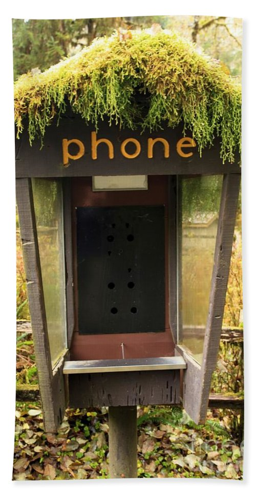 Phone Booth Hand Towel featuring the photograph Overgrown by Adam Jewell