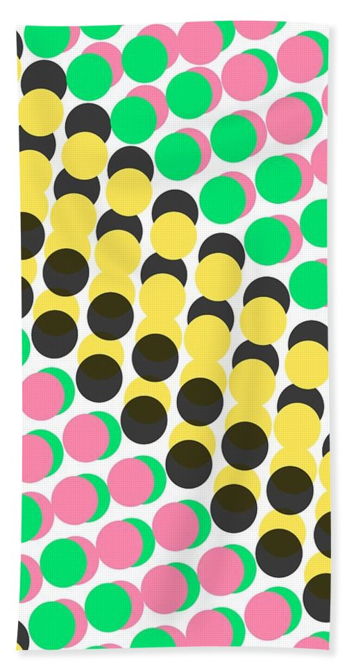 Overlayed Dots Bath Towel featuring the digital art Overlayed Dots by Louisa Knight