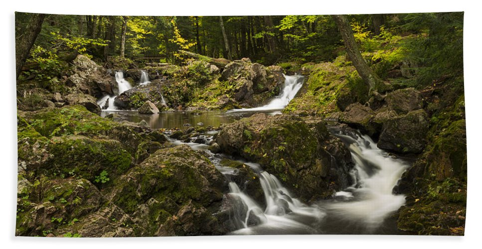 Overlook Hand Towel featuring the photograph Overlook Falls 2 by John Brueske